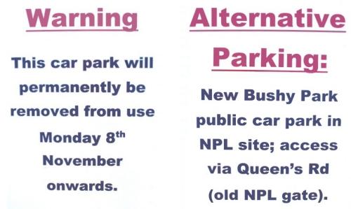 Bushy Park Car Park Charges