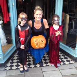Spooky fun and scary face painting at Marys Living And Giving shop