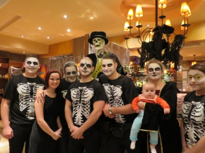 Staff at Bar Estilo ready themselves for their Halloween party