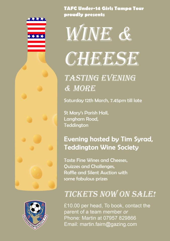 Cheese and Wine Flyer